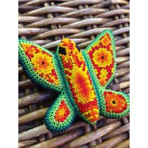 Mariposa Forrado Con Chaquira, Arte Huichol