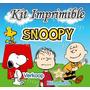 Kit Imprimible Snoopy + Candy Bar Fiesta Personalizada Pe