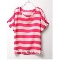 Blusa/camisa Chiffon Navy G - Primavera/verão Bem Fresquinha