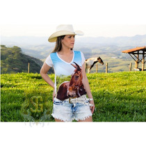 Baby Look Country Estampa Exclusiva Cavalo Selaria Guiricema