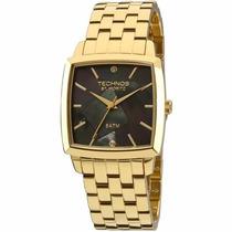 Relógio Technos Feminino Dourado Quadrado 2036lnj/4p Wr 50m/