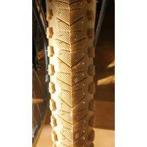 Cubierta De Bicicleta 26 X 190. Blanca/marrón/ Beige,