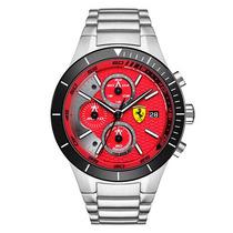 Relógio Ferrari 830269 Vermelho Prata Garantia 12x Sem Juros
