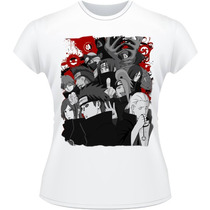 Baby Look Akatsuki Naruto Shippuden Itachi Camiseta Camisa
