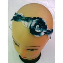 Cintillos A Crochet, Ajustables, Con Flor.