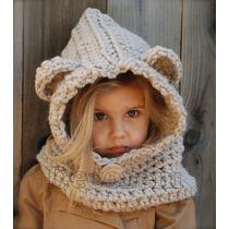 Gorros Tejidos A Mano Capucha Crochet De Estambre