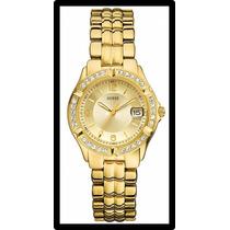 Reloj Guess Dorado Dama U85110l1 Nuevo Y Original