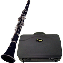 Clarinete Shelter 6402 Bb 17 Chaves Niquelado Case + Palheta