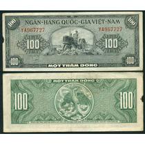 Vietnam Billete De 100 Dong Año 1955 Buen Estado - Tractor