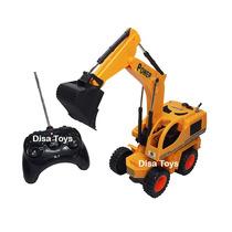 Escavadeira Trator 40 Cm Controle Remoto Com Som 6 Funções
