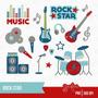 Kit Imprimible Rock Stars Imagenes Clipart Cod 3