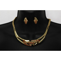 Conjunto Elegante,collar, Pulsera, Anillo Y Aretes Ce62