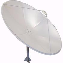 Antena Parabólica De Chapa 180 Cm Cabeçote Rastreável