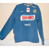 Sudadera De Utileria Azul Marca Nike Equipo America L