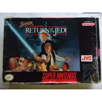 Super Star Wars Return Of The Jedi Snes Super Nintendo Caja