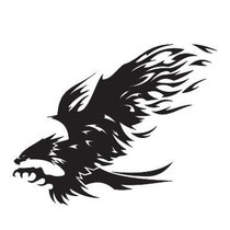 Adesivo Tribal Refletivo Carro Moto Flame Eagle Frete Grátis