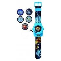 Relógio Lançador De Discos Do Max Steel