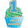 40 Convites De Aniversário De 1 Aninho Menino Bolo