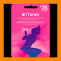 Itunes Apple Card $25 Para Ipod Iphone Tarjeta Prepago