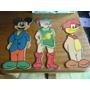 Figuras De Madera De Mickey , El Pajaro Loco Y 3 Mosqueteros