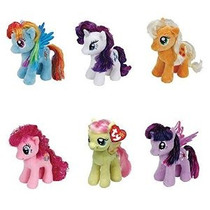 Colección Ty My Little Pony Amistad Magia 6 Inch Beanie Babi