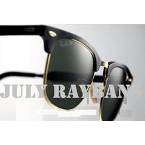 Oculos De Sol Ray Ban Clubmaster Aluminium Rb3507 + Wayfarer