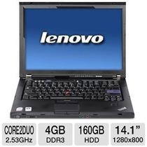 Notebook Intel 2.4ghz 4gb Ddr3 Lenovo T400 Com Garantia