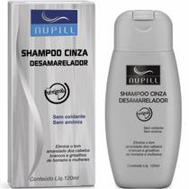 Shampoo Nupill Cinza Desamarelador Com 120 Ml