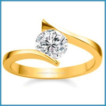 Anillo De Compromiso Diamante Natural .45ct Oro 18k -50% 207