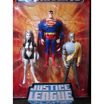 3 Pack Justice League (silver Banshee, Superman Y Metallo)