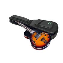 Semi Case Guitarra Semi Acústica Couro Reconstituído Preto