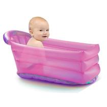 Banheira Inflável Bath Buddy Rosa Para Bebê Promoção