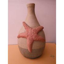 Botella Sake Estrella De Mar Ceramica Oriental Japon Bar