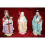 Espectaculares Tres Sabios Chinos En Porcelana
