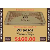 Coleccionador Para Monedas De 20 Pesos Cultura Maya