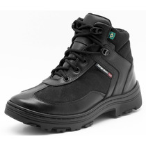 Bota Coturno Militar Policia Swat Bope Paintball Couro 291