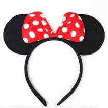 40 Diadema Mimi O Mickey Eventos Minnie Moño Orejas