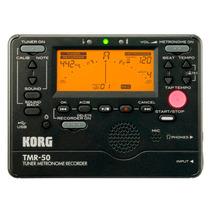Metrônomo Afinador Gravador Digital Compacto Korg Tmr-50 Bk