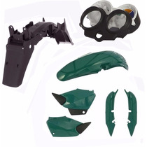 Kit Carenagem Plástico Titan 125 Ano 2000 2001 Verde Metalic