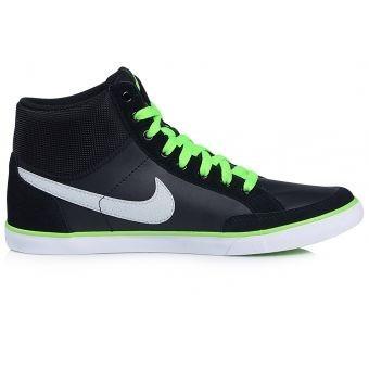 zapatillas tenis nike hombre capri blazer mid - negro verde