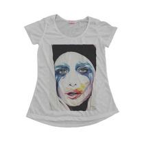 Camisetas Personalizadas Blusas Femininas T-shirt Lady Gaga