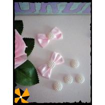 Aplique Media Esfera De Perlitas Sin Moño Candy Bar X10