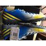 Botines Adidas Papi Futbol Azul Y Amarillo Predito Lz Trx Tf