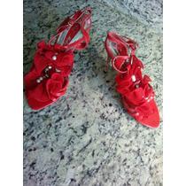 Zapatos De Dama Rojos Nuevos