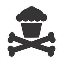 Cupcake Venenoso - 5 Adesivos - Frete Grátis Para Todo Brasi