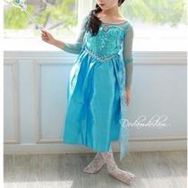 Fantasia Infantil Frozen Princesa Ana Elsa!