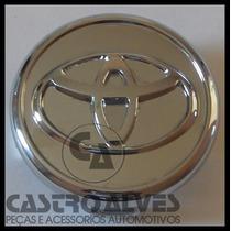 Calota Roda Liga Toyota Corolla 2006 2007 Cromada 55mm =1 Pç