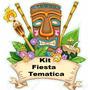 Kit Fiesta Temática Hawaiana Lona Vinilo Personalizado