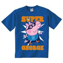 Playeras O Camiseta Peppa Pig George Todas Las Tallas!!!
