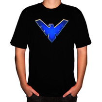 Camiseta Super-herói Asa Noturna